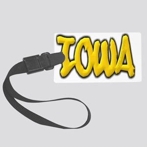 Iowa-graffiti Large Luggage Tag